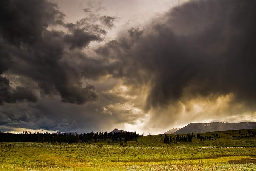 Clouds Photograph - Yellowstone Sky by Patrick  Flynn