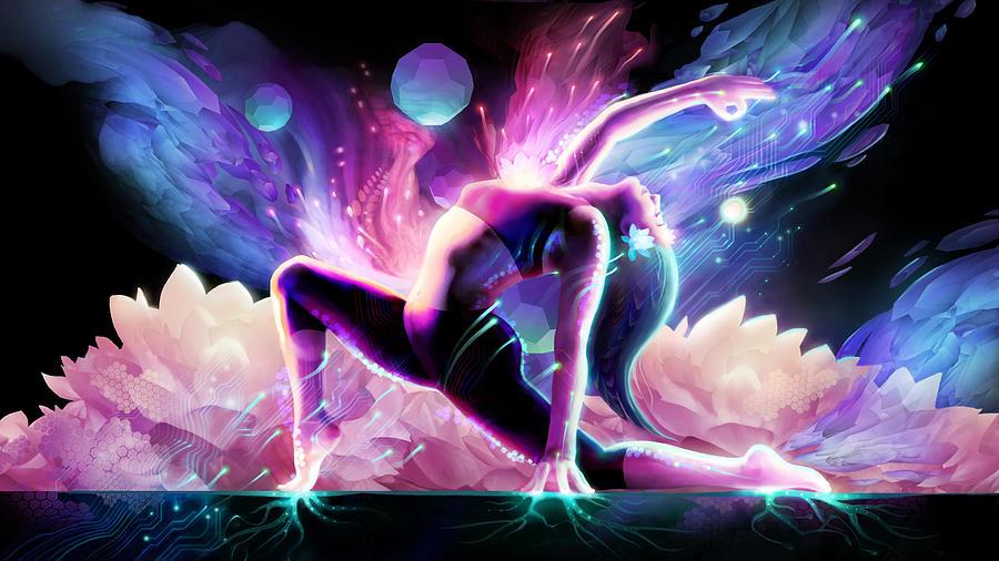 Yoga Digital Art - Yin Salutation by George Atherton