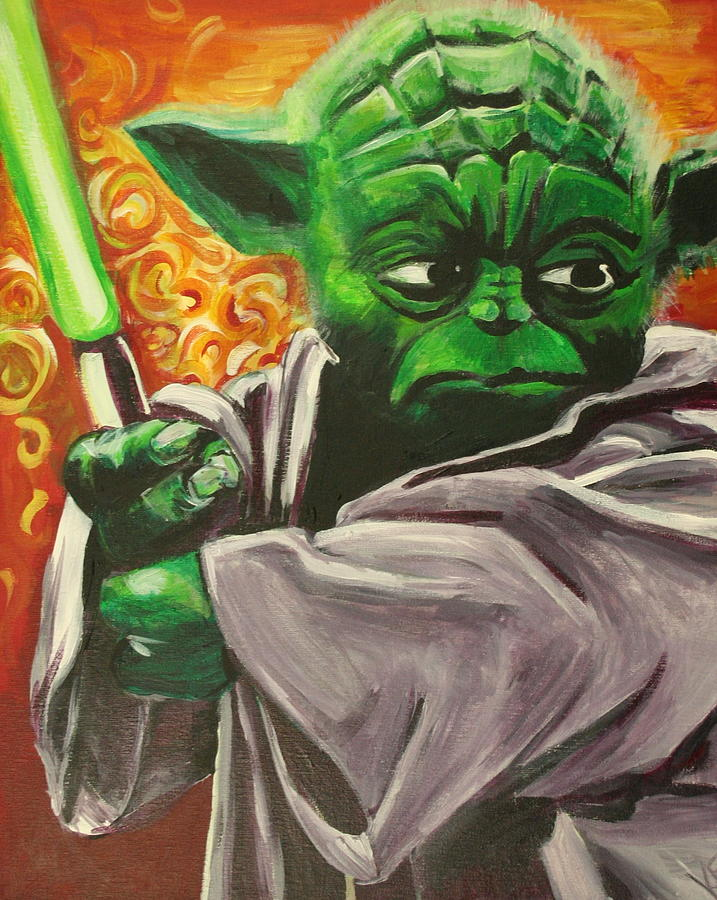 Yoda Painting - Yoda by Kate Fortin