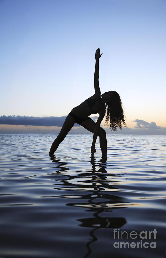 Alone Photograph - Yoga On The Coastline by Brandon Tabiolo - Printscapes