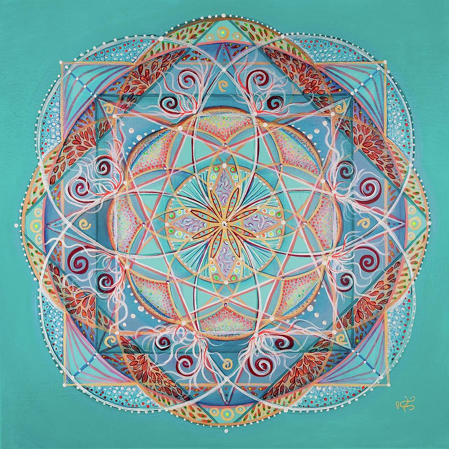 Mandala Painting - Yogi By The Sea by Angel Fritz