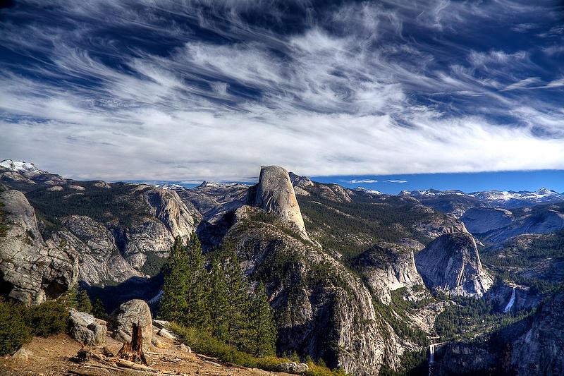 Glacier Point Photograph - Yosemite - Glacier Point - Wispy Clouds by Eric Moss