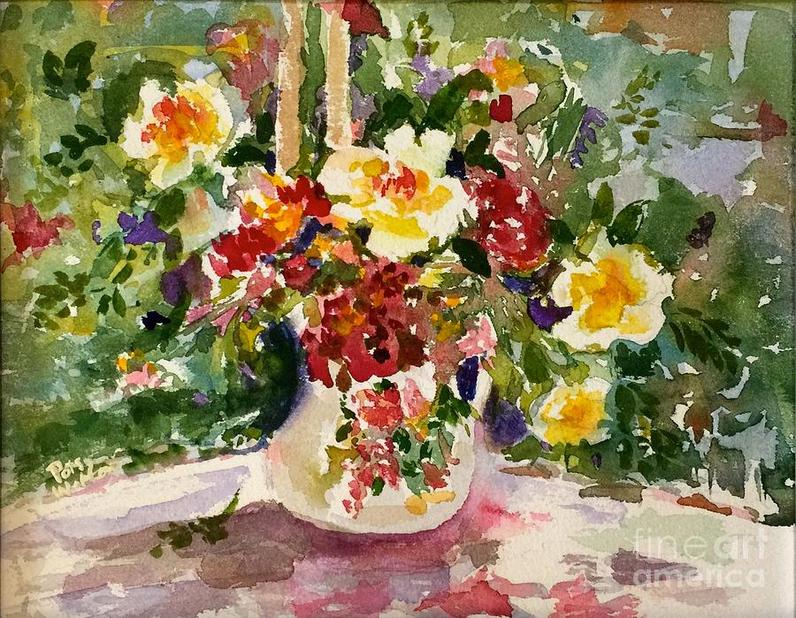 Flowers Painting - You Are Loved by Patsy Walton