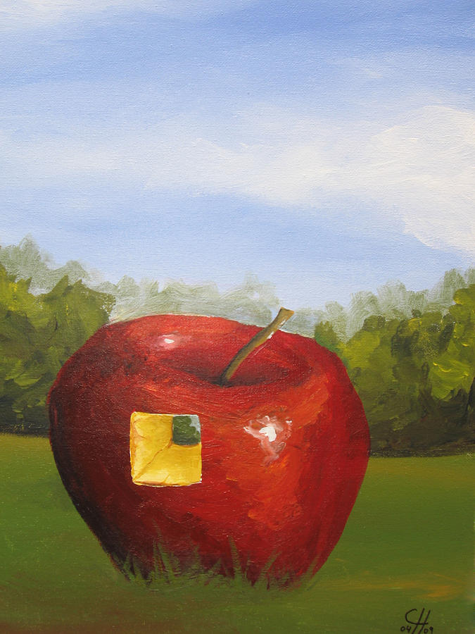 Apple Painting - You Are That Missing Piece by Christian  Hidalgo