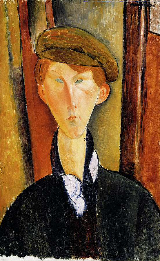 Young Man Painting - Young Man With Cap by Amedeo Modigliani