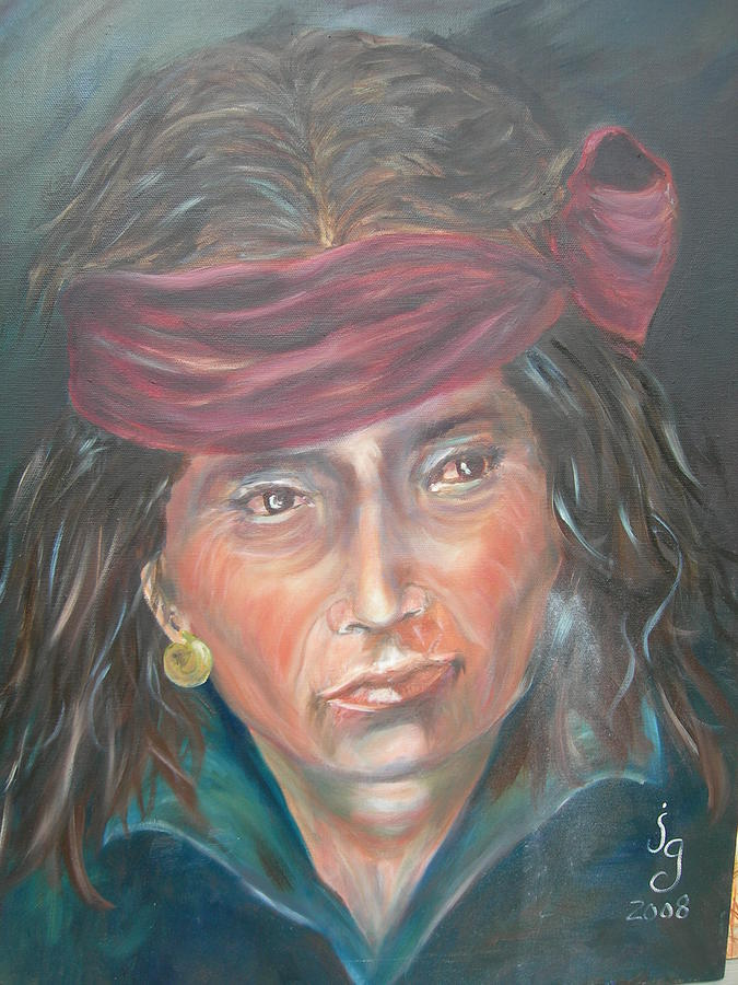 Portraits Painting - Young Navjo by Judie Giglio