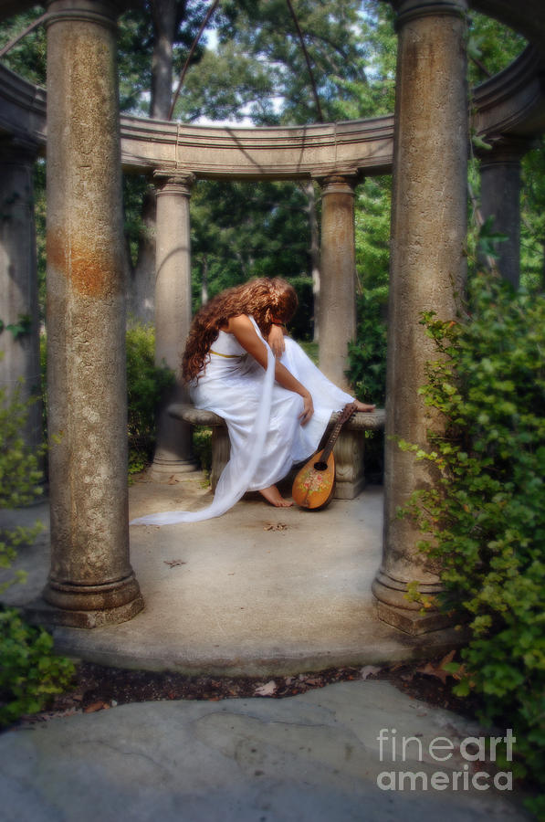 Woman Photograph - Young Woman As A Classical Woman Of Ancient Egypt Rome Or Greece by Jill Battaglia