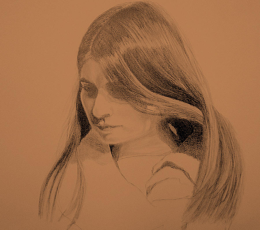 Young Woman Drawing by Susan Tilley