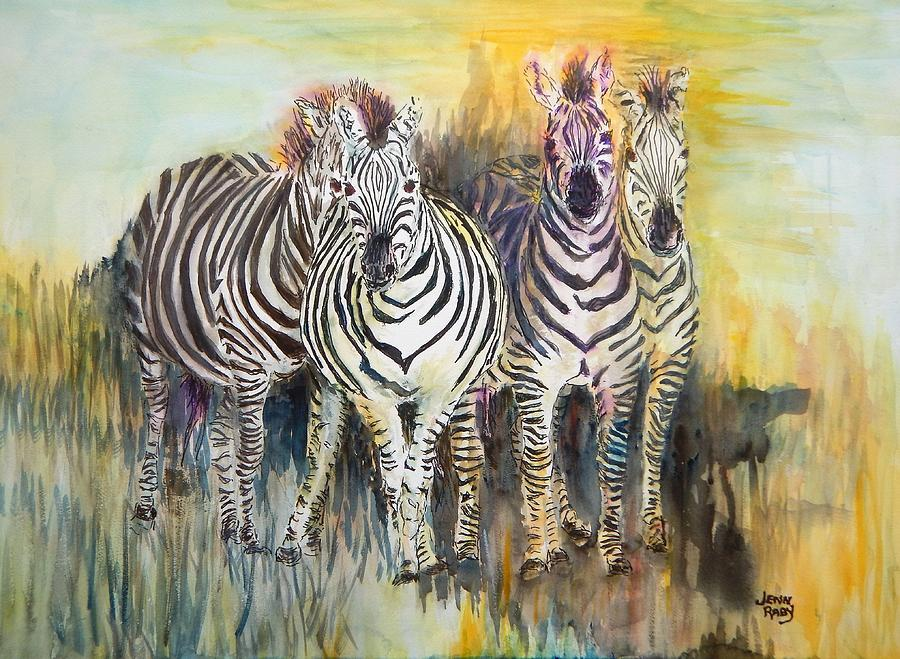 Zebras on Watch series 008 by Jennifer Raby