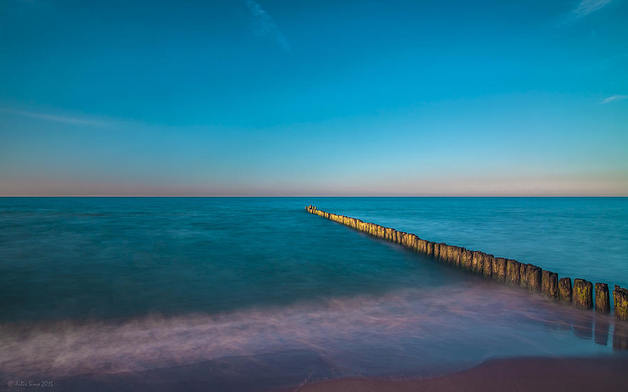 Zen Mood Seascape In Blue And Turquoise Photograph