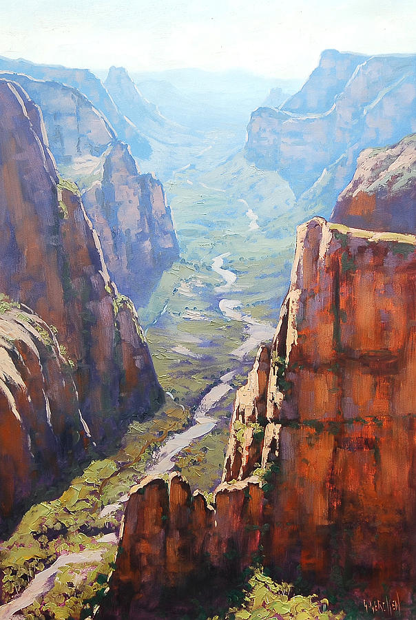 Rocks Painting - Zion Canyon by Graham Gercken