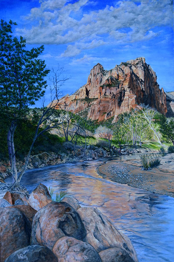 Zion Painting - Zion National Park by Vicky Path