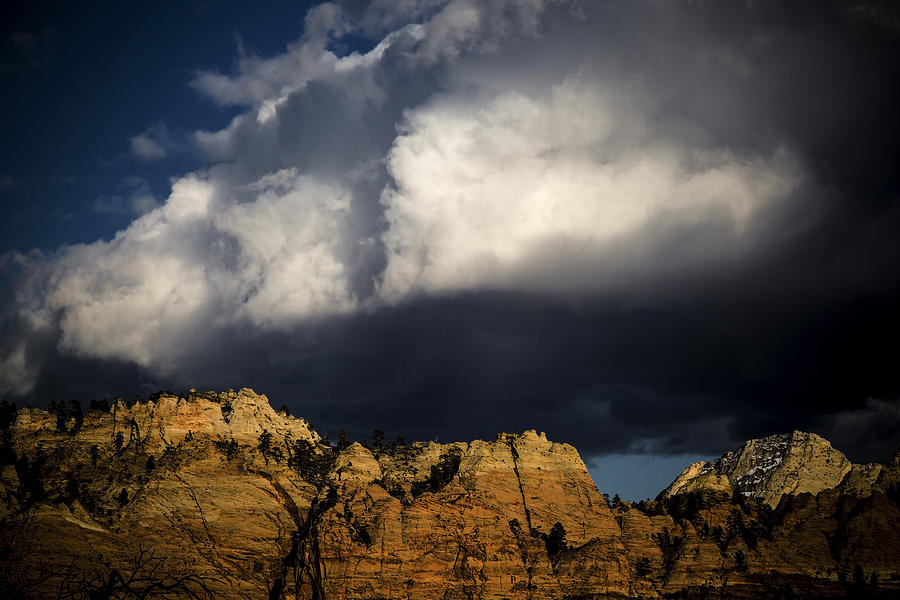 Zion Photograph - Zion Storm Clouds by Michael Just