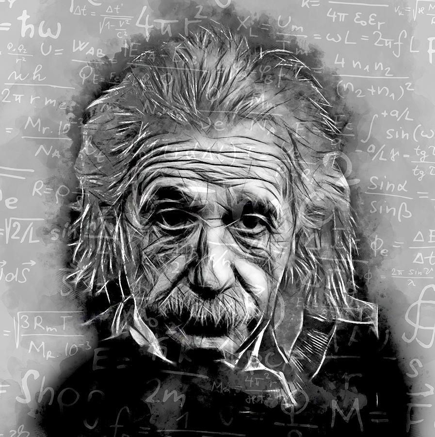 Albert Einstein Mixed Media - Albert Einstein by Marvin Blaine