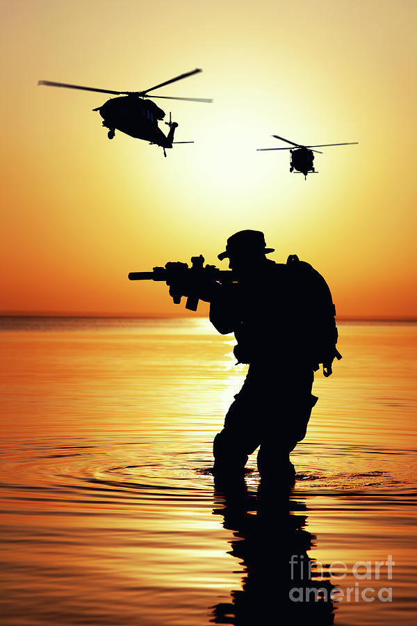 army soldier silhouette photograph by oleg zabielin