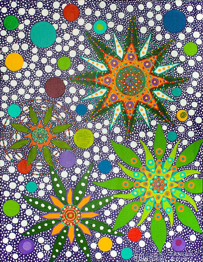 Ayahuasca Vision  Painting by Howard Charing