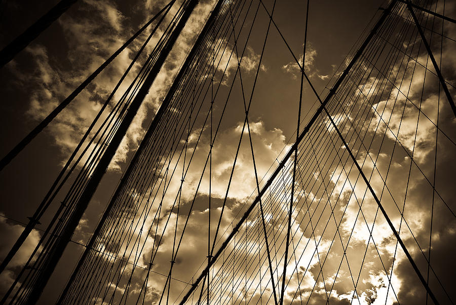 Bridge Photograph - Brooklyn Bridge by Patrick  Flynn
