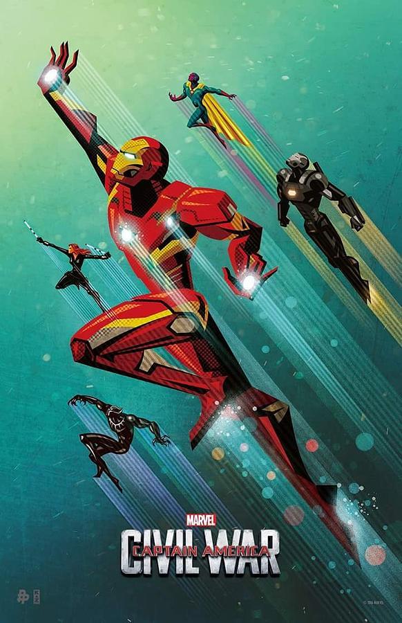 Captain America Civil War 2016 Digital Art By Geek N Rock