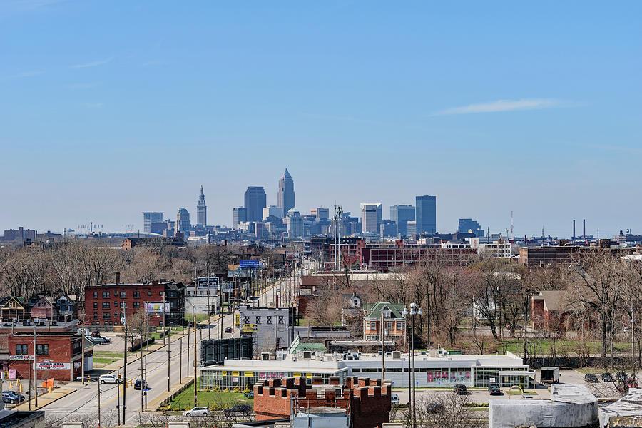 Belt Photograph - Cleveland Skyline by Cityscape Photography