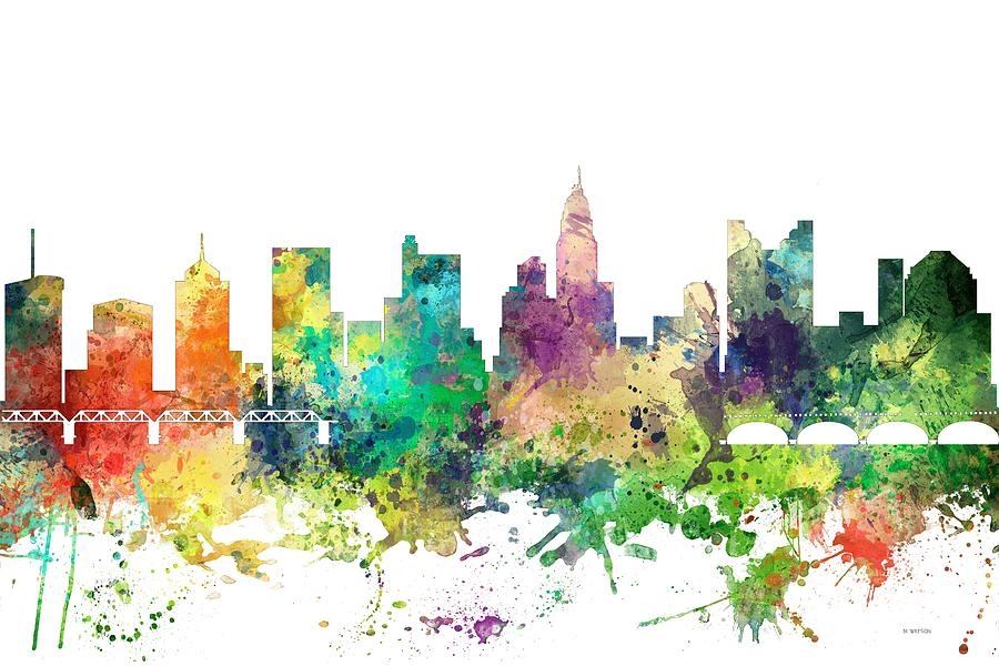 Columbus Ohio Skyline Digital Art - Columbus Ohio Skyline by Marlene Watson