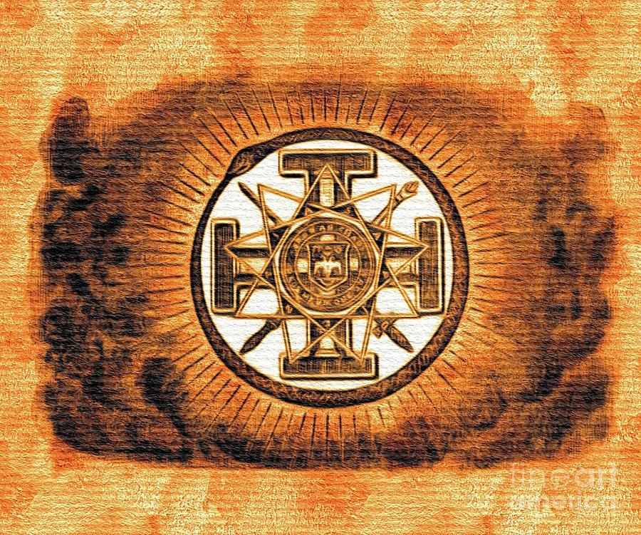 Freemason Masonic Symbols Painting By Pierre Blanchard