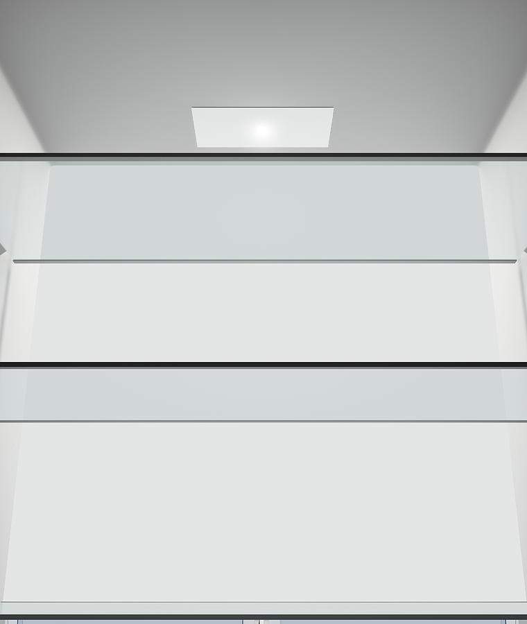 Refrigerator Digital Art - Fridge Interior 10 by Allan Swart