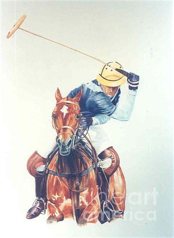 Polo Paintings Painting - 10 Goal Action by Sabrina Siga