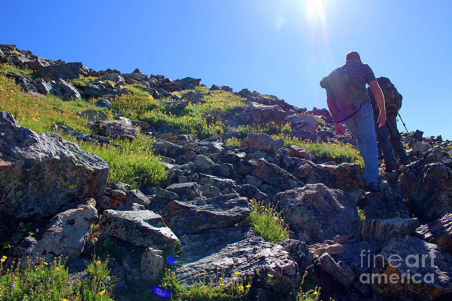 Hiking The Mount Massive Summit Photograph