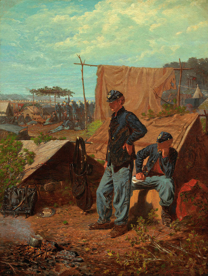 Home Painting - Home, Sweet Home by Winslow Homer
