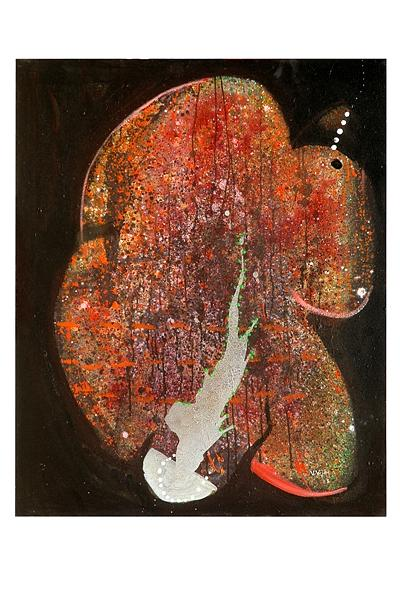 Abstract Painting - Hymn To Eternity by Victor Vijay Kumar