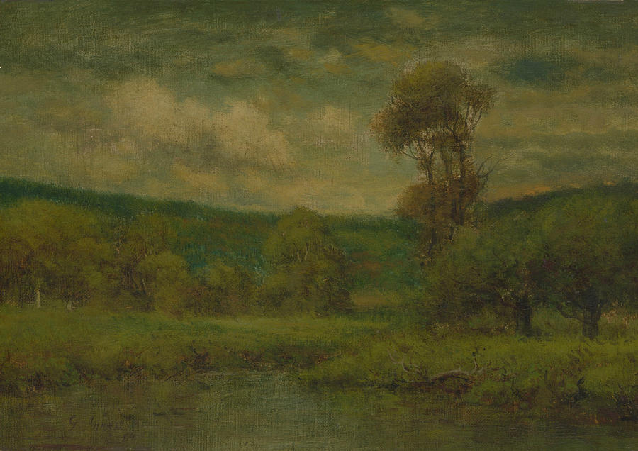 george inness early moonrise - 900×636