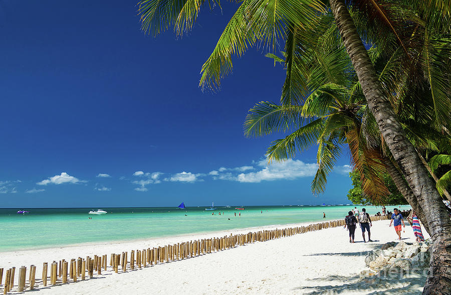 Asia Photograph - Main Beach Of Tropical Paradise Boracay Island Philippines by Jacek Malipan