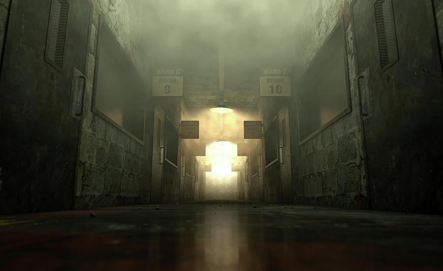 Asylum Digital Art - Mental Asylum Haunted by Allan Swart