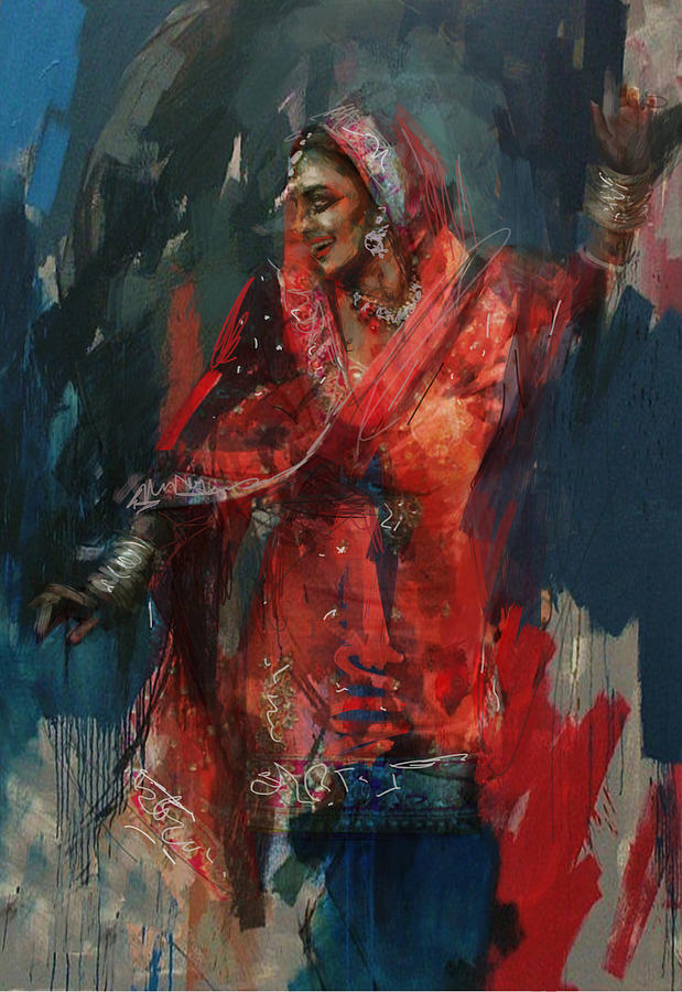 Sindh Painting - 10 Pakistan Folk Punjab B by Maryam Mughal