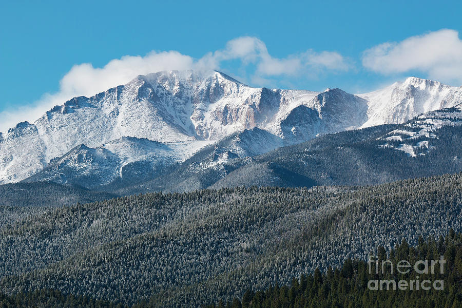 Pikes Peak Photograph - Storm Clouds on Pikes Peak by Steven Krull