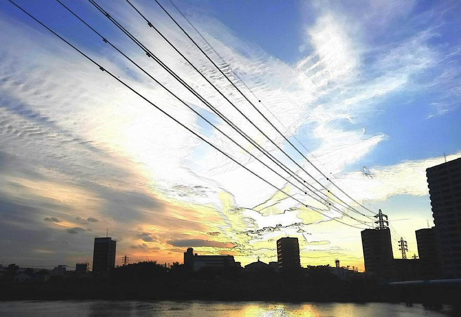 Sunset Digital Art - Sunset by Kumiko Izumi