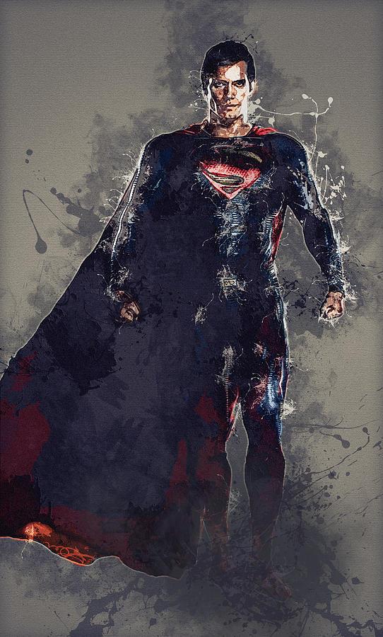 Superman Digital Art - Superman by Elena Kosvincheva