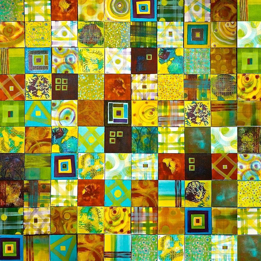 Abstract Painting - 100 100 by Wonju Hulse