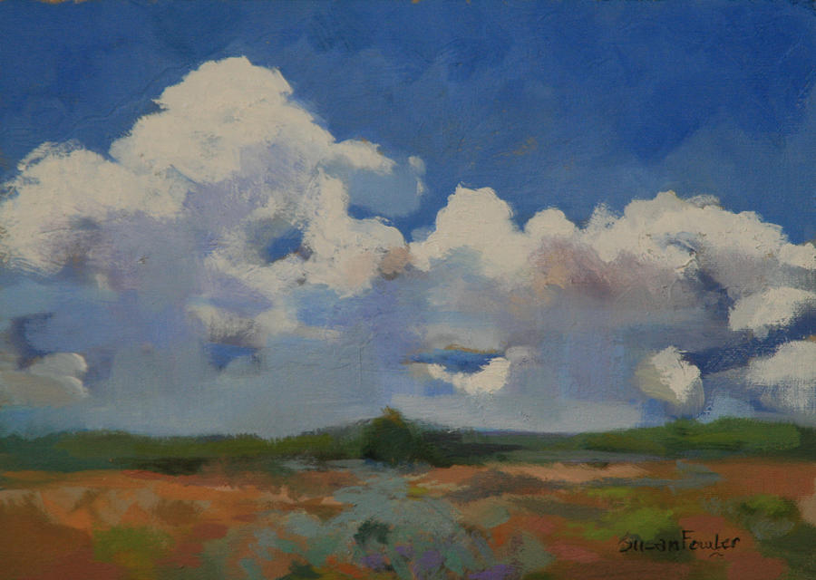 Summer Cumulous  Painting by Susan Fowler
