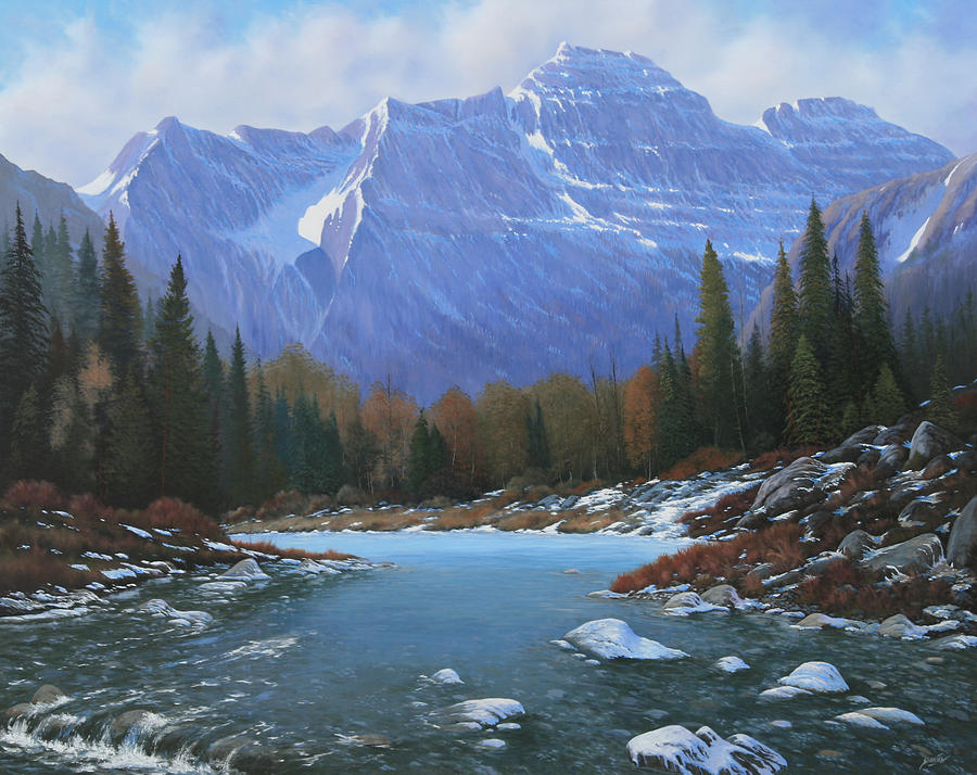 Rocky Mountain Landscape Painting - 100129-4860  Winters Early Arrival by Kenneth Shanika