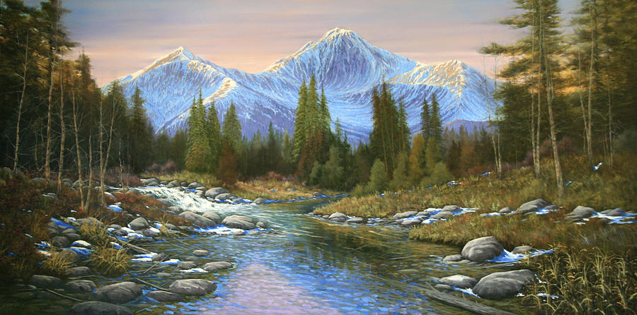 Landscape Painting - 100807-3060  Seasons Change by Kenneth Shanika