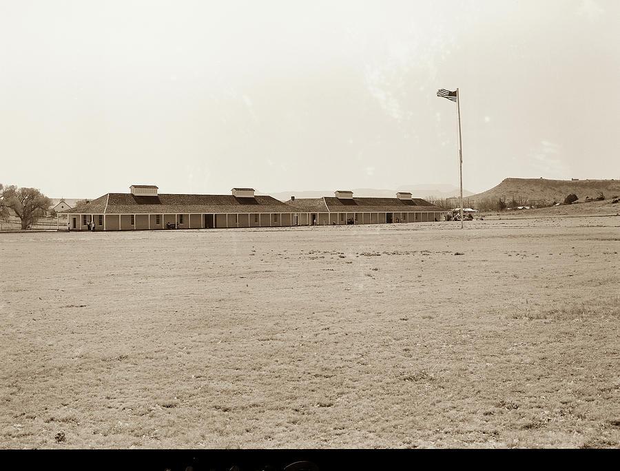 Fort Davis Photograph - 1009.308 Fort Davis Texas Antique Black And White by M K Miller