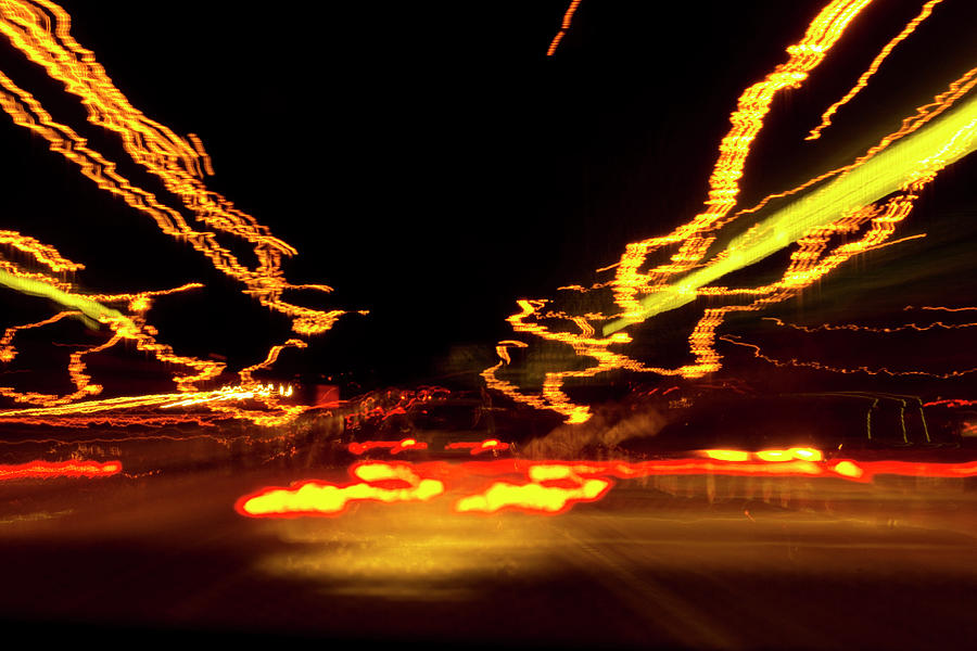 101 Southbound at Night by Richard Henne