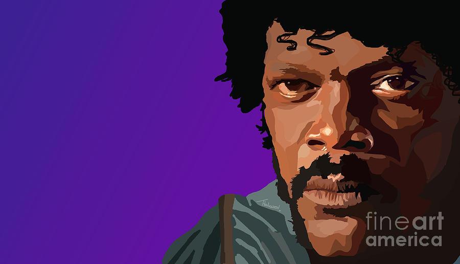 Pulp Fiction Digital Art - 105. Bad Mf by Tam Hazlewood