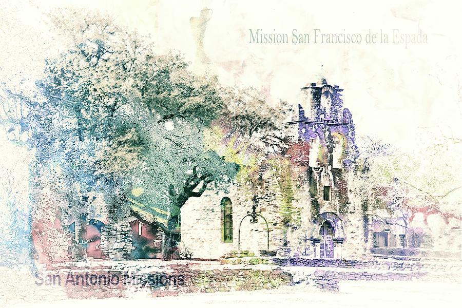 10858 Mission San Fransico De La Espada Mixed Media