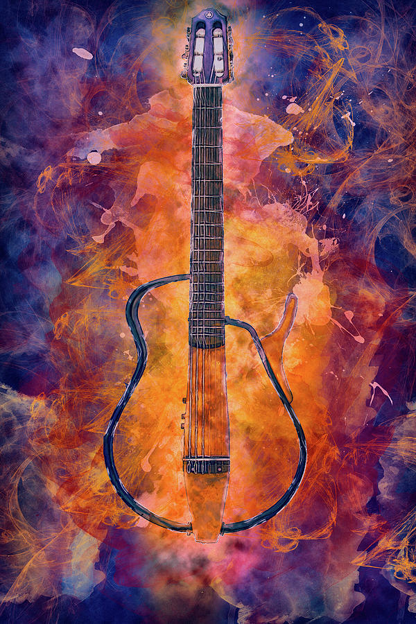 10987 Guitar on Fire by Pamela Williams