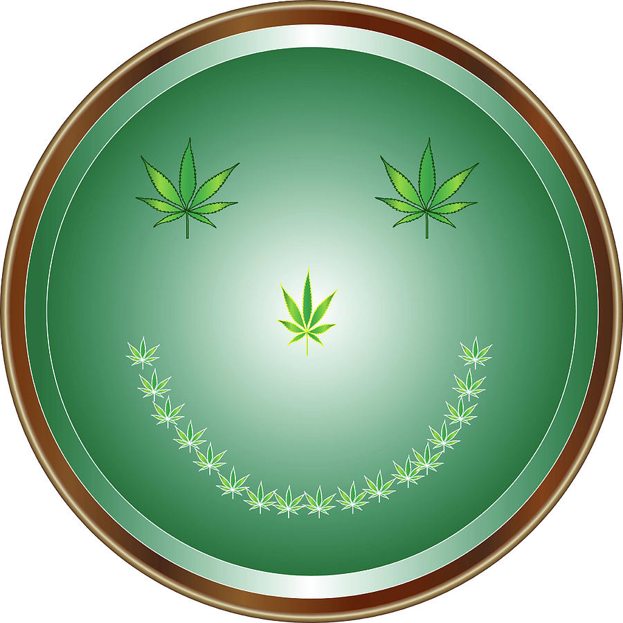 Weed Digital Art - 10faces by Larry Waitz