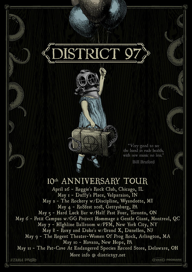 10th Anniversary Tour Digital Art by District 97