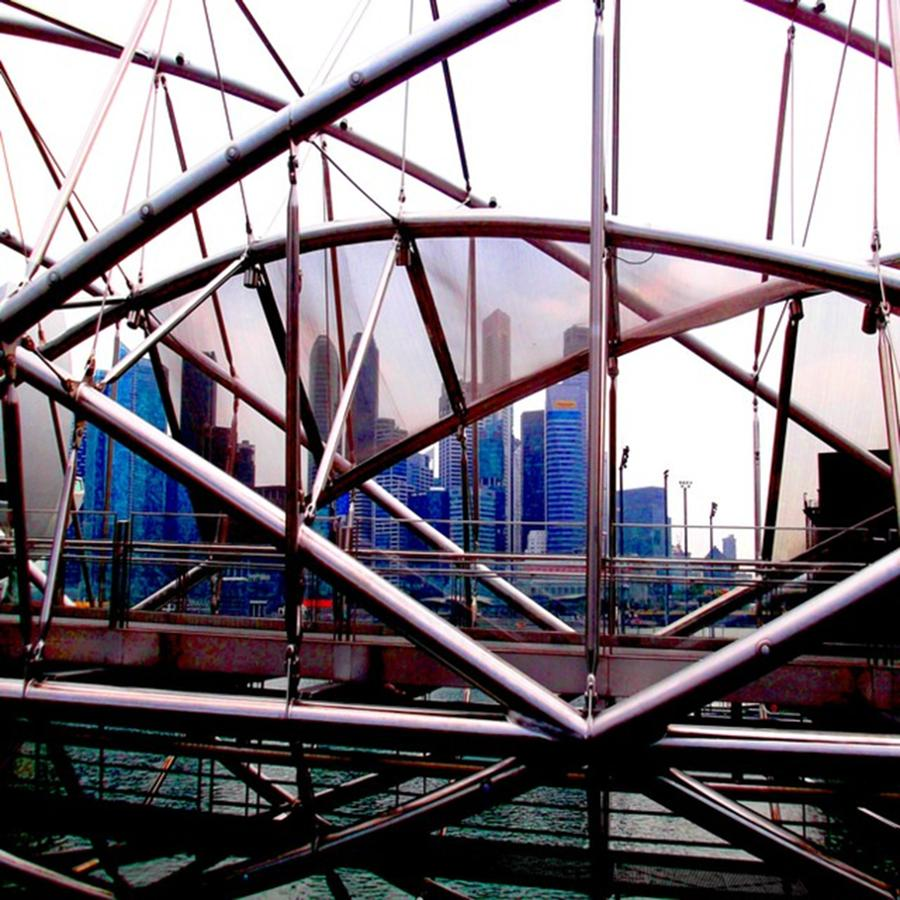 Bridge Photograph - #10yearsoftravel Funny How A Bit Of Odd by Dante Harker