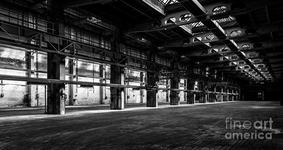Dark Industrial Interior Photograph By Anna Vaczi